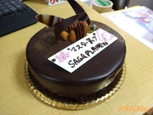 ケーキでマスターアップお祝い!